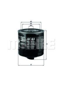 Olejový filtr KNECHT  - OC83