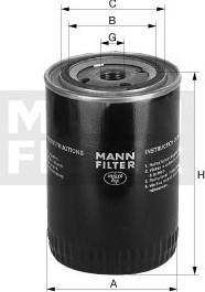 Olejový filtr MANN W712/37 - FORD