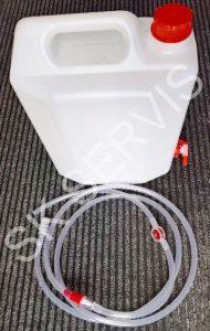 KANYSTR (doplňovací nádoba) 25L + rozvodový set pro systém Aquamatic - centrální dolévaní destilované vody trakční baterie pro vozíky, mycí stroje,...
