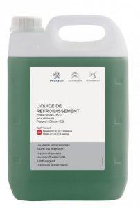 Originální nemrznoucí směs Citroen - Peugeot G33 - 5l na -35°C (chladící kapalina PSA, modrozelená, Glysantin G33)